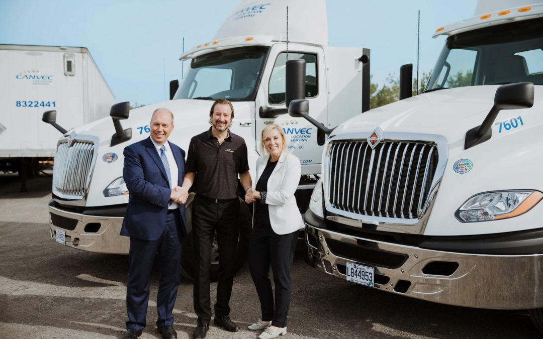 Location Canvec fait l'acquisition de nouveaux camions pour offrir une offre complète à 360° à toute sa clientèle