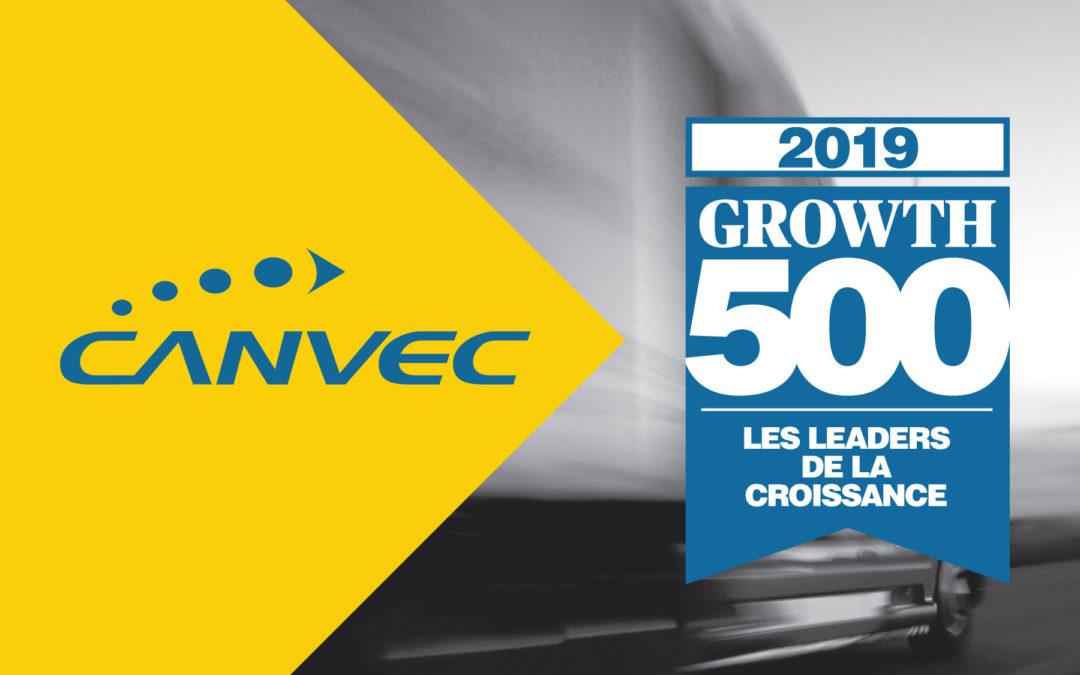 Location Canvec se classe au palmarès Growth 500